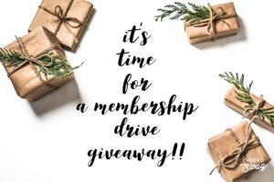 membership drive giveaway